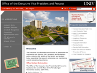 UNLV office of the Provost website